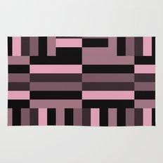 pink and black blocks Rug