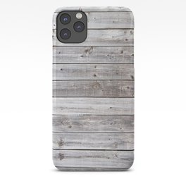 Gray Wood iPhone Case