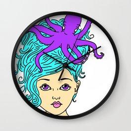 Mermaid Hair Wall Clock