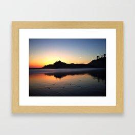 Cape Kiwanda Silhouette   Pacific City, Oregon Framed Art Print