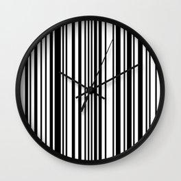 Barcode Stripes Wall Clock