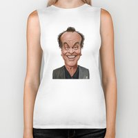 jack nicholson Biker Tanks featuring Celebrity Sunday ~ Jack Nicholson by rob art | illustration