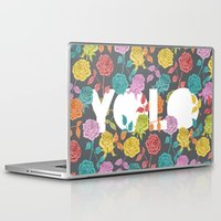 bjork Laptop & iPad Skins featuring //  YOU ONLY LIVE ONCE  by Bianca Green
