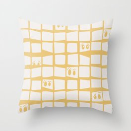 The Many Face of Me Throw Pillow
