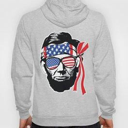 Abraham Lincoln American Flag Bandana Hoody