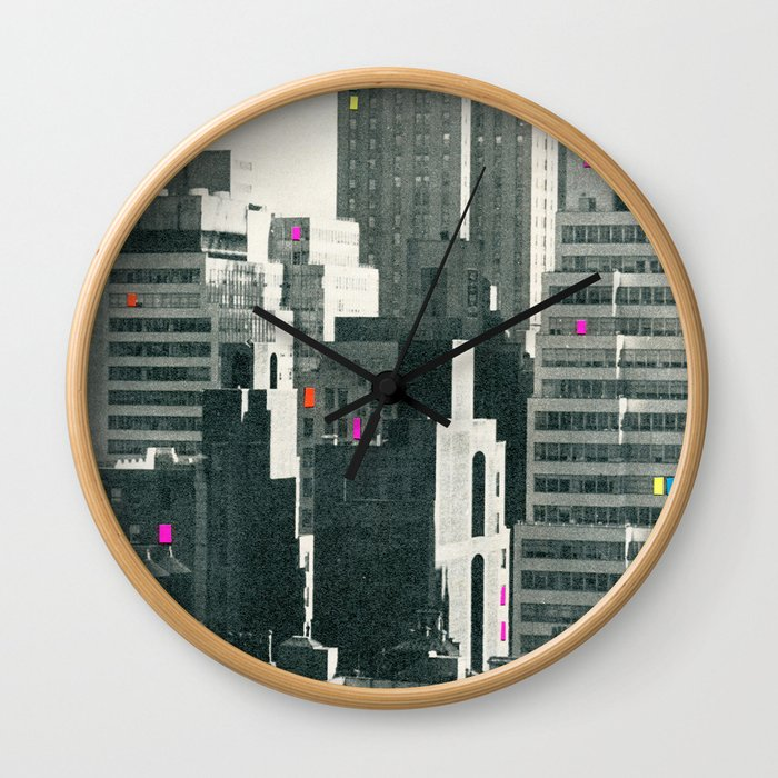 Discos in New York Wall Clock