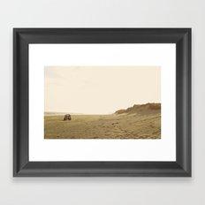 Montauk Beach Jeep Framed Art Print