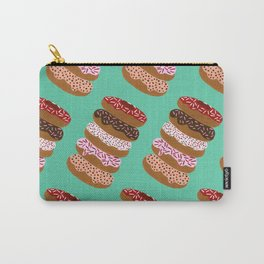 Stacked Donuts on Mint Carry-All Pouch