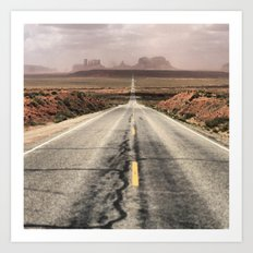 Road to Monument Valley Art Print