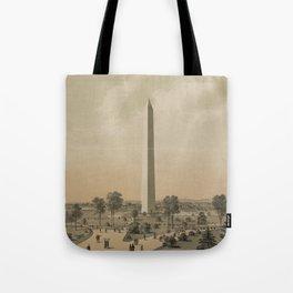 Vintage Washington Monument Illustration (1886) Tote Bag