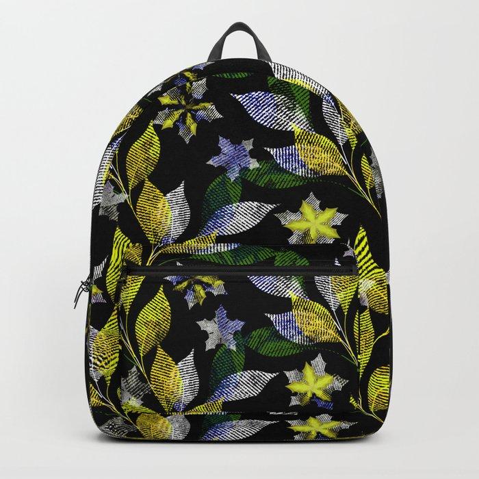 Floral pattern . Backpack