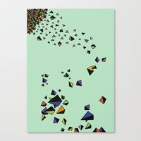 triangles Canvas Prints featuring Triangles by Jarvis Glasses