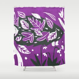 Hedgehog - Purple Palette Shower Curtain