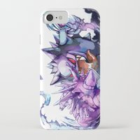gengar iPhone & iPod Cases featuring Nidorino vs Gengar by Sa-Dui