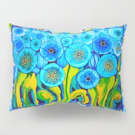 Field of Poppies with Border All Around Belize Pillow Sham