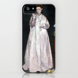 Édouard Manet Young Lady in 1866 iPhone Case