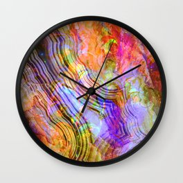 abstract crystal x Wall Clock