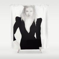 model Shower Curtains featuring model by Jesse Matiu Art