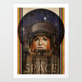Give me Space (Girl) Art Print