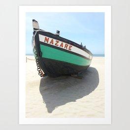 nazare canoe Art Print