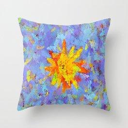 Crinkled Sunshine Throw Pillow