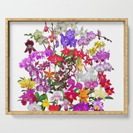 A celebration of orchids Serving Tray