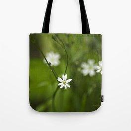Chickweed Wildflowers Tote Bag