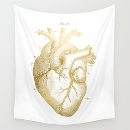 Gold Heart Wall Tapestry