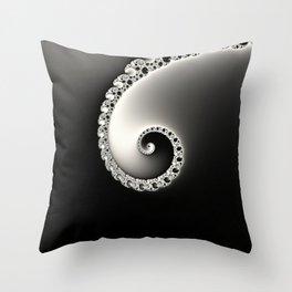 Classic Elegance - Fractal Art Throw Pillow