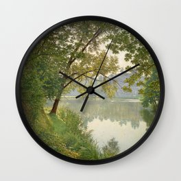 From Waters Edge - Landscape Painting Wall Clock