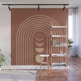 Mid Century Modern Geometric 10 (Moon phases) Wall Mural