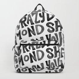 Shine On You Crazy Diamond – Black Ink Backpack