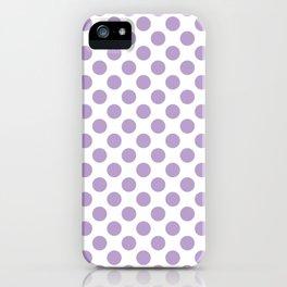 Lavender Polka Dots Pattern iPhone Case