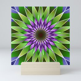 Lavender lotus mandala Mini Art Print