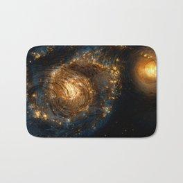Starry Galaxy Night Bath Mat