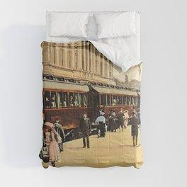 1900s Haydarpasa railroad station, train Comforters