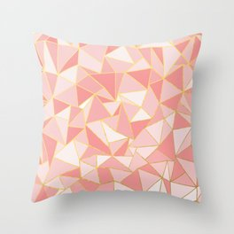 Ab Out Blush Gold Throw Pillow