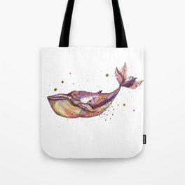 Grape Whale Tote Bag
