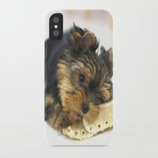 Puppy And the First Chewing Bone  iPhone X Slim Case