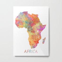 Africa map 2 Metal Print