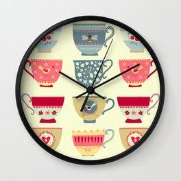 Tea Cups Wall Clock