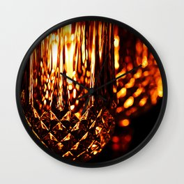 Golden Champagne Flutes Wall Clock