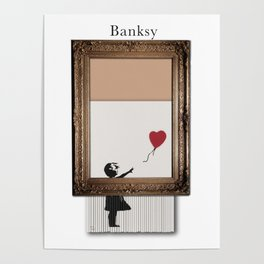 Girl With the Red Balloon Banksy Shredded Poster