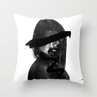 scream Throw Pillows featuring Scream  by Benson Koo