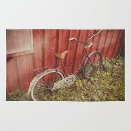 Vintage bicycle Rug