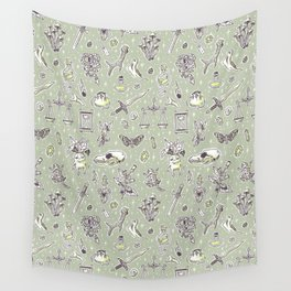 Witchcraft Pattern Wall Tapestry