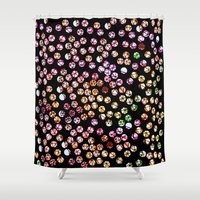 polka dots Shower Curtains featuring Polka Dots by Take Five