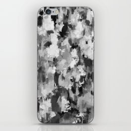 black and white pattern - paint brush design iPhone Skin