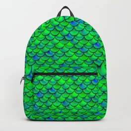 Green Blue Scales Backpack