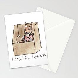if Khajiit fits, Khajiit sits Stationery Cards